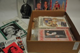 Two Boxes Of Magic Catalogs/magazines