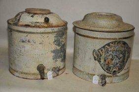 Pair Of Antique Drink Coolers