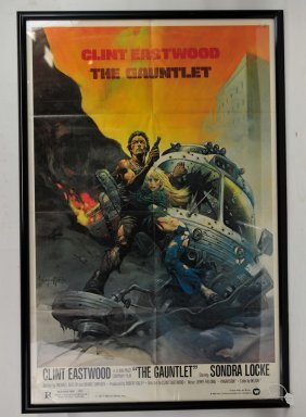Original Clint Eastwood Gauntlett Movie Poster