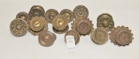 Collection Of Vintage Brass Hardware Lot