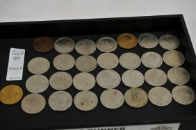 Collection Of 29 Vintage Casino Tokens