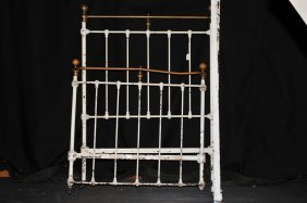 Antique Iron And Brass Bed