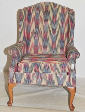 Contemporary Wingback Chair Made By Rowe Furniture