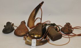 Collection Of Powder Flasks And Horns