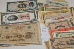 59 Pieces Of Vintage Foreign Currency