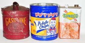 6 Vintage Advertising Cans