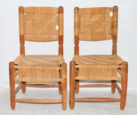 Pair Of Country Chairs Made In Mexico