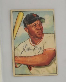 1952 Bowman Willie Mays Ungraded