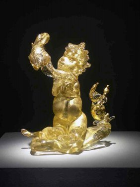 Dale Chihuly Gilded Putti Glass Art Habatat