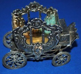 Continental Silver Miniature Carriage