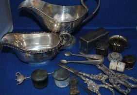 Assorted Sterling Silver And Plated Articles