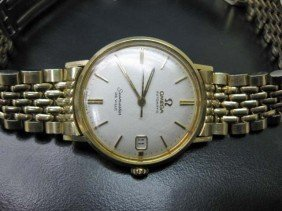 Gold Filled Omega Seamaster Men's Watch
