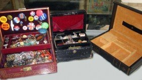 Assorted Costume Jewelry & 3 Jewelry Boxes
