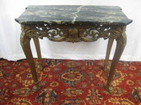 Pair Of Louis XV Style Marble Top Consoles