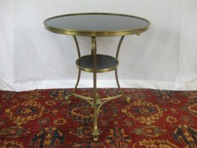 French 2 Tier Granite Top Gueridon