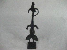 Abstract Bronze Sculpture - Ram