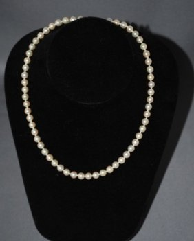 16 Inch Strand Of 6.2 MM Pearls
