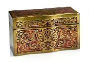 19th C. French Napoleon III Boulle Tea Caddy