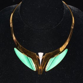 18k Yellow Gold Contemporary Choker Necklace