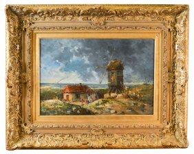 Anton Mauve.  19th C. Oil On Canvas