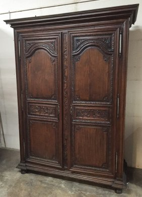 18th C. French Provincial Walnut Armoire