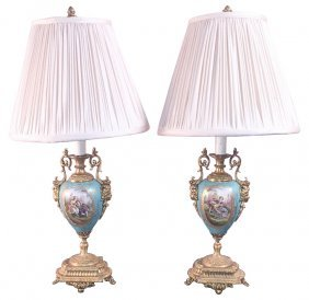 Pair Of French Sevres Style Lamps
