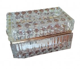 Nice Quality Antique Cut Glass Jewelry Box