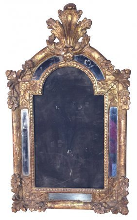 An 18th C. French Carved Wood Crucifix Frame