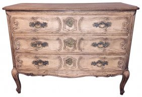 French Provincial Bleached Oak Commode