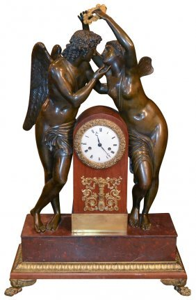 Palace Size French Bronze Figural Clock