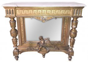 French Napoleon Iii Carved And Giltwood Console