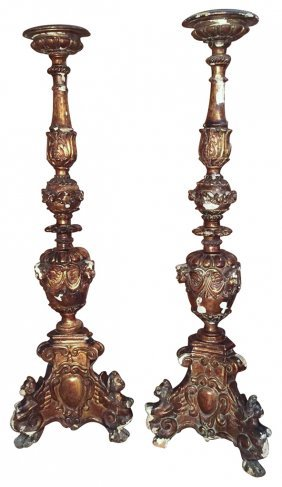 Rare Pr. Of 18th C. French Gilt-wood