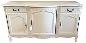 Country French White Lacquered Buffet