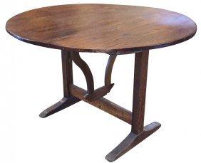 19th C. French Oak Wine Tasting Table