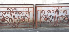 A Large Pair Of French Iron Consoles