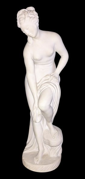 19th C. French Alabaster Lady