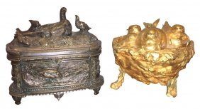 Group Of 2 French Bronze Boxes