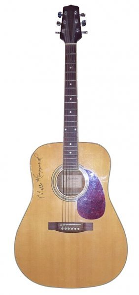 Country Legend Merle Haggard Autographed Guitar