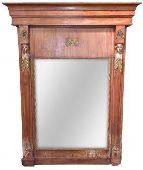 Period French Empire Walnut Mirror