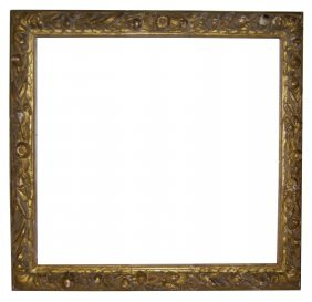 Large European 17th C. Hand Carved Ornate Frame