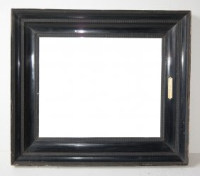 Dutch 18th C. Ebonized Ripple Frame.