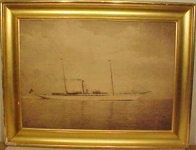 "Large Photo Of F. Vanderbilts Yacht ""Virginia""."