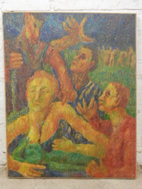 Oil On Canvas, Various Figures (untitled), Jennings