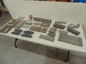 Large Lot Metal Chocolate Molds