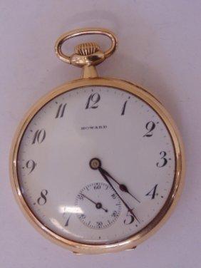 Howard Watch Company 14k Gold Pocket Watch