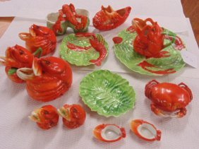 Lot Royal Bayreuth Lobster Dinnerware