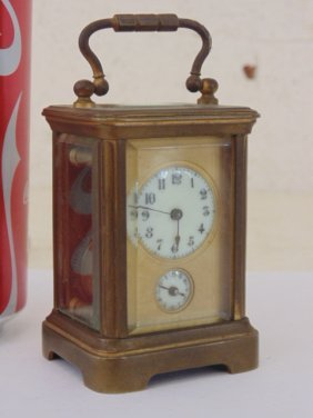 Miniature Carriage Alarm Clock, French Made