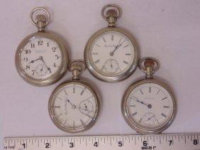 Lot 4 Rail Road Pocket Watches