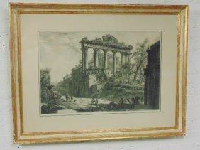 """Piranesi etching, """"Veduta del Tempio�"""""""