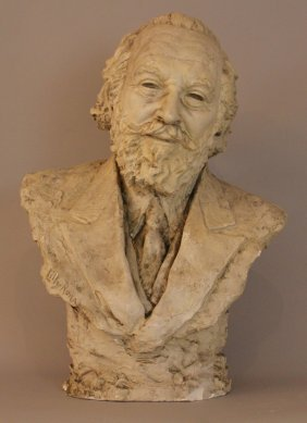 Lilly Rona (1893-1958), Portrait Bust Of A Man,